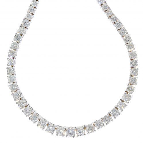 Brilliant Cut Diamond Necklace 18.50ct