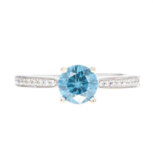 Blue Diamond Ring 0.85ct