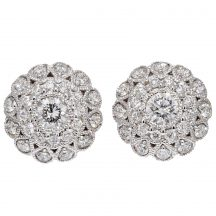 0.70ct Diamond Cluster Earrings