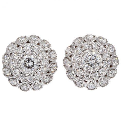 0.70ct Diamond Cluster Earrings