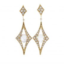 Sapphire & Diamond Yellow Gold Earrings