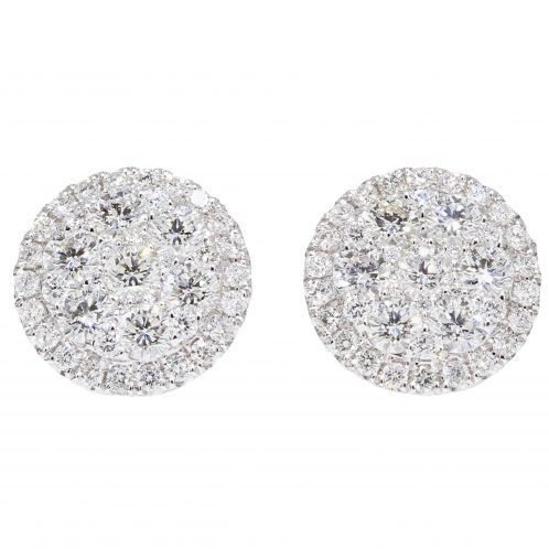 Diamond Cluster Studs (Large Size)