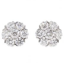 Diamond Cluster Studs (Large Size)