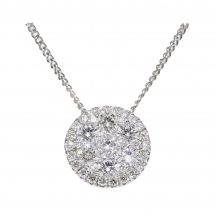 Diamond Circle Cluster Pendant 0.88ct