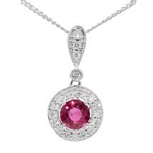 Ruby & Diamond Pendant 0.78ct