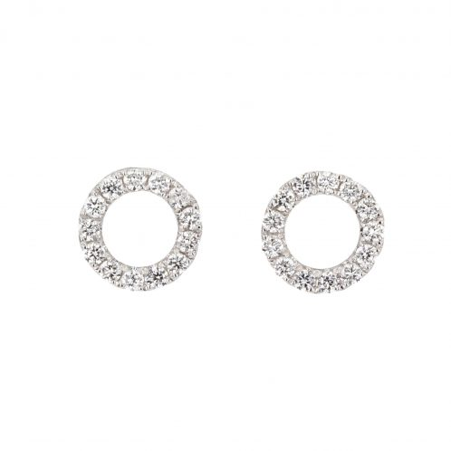 Diamond Circle Studs 0.31ct
