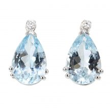 Aquamarine Pear Shape Drop Earrings 5.20ct