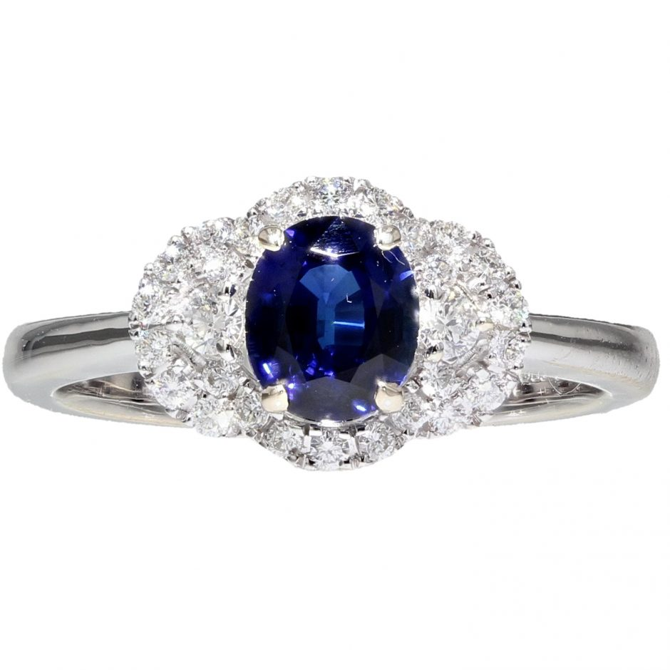 ca73eff31 Sapphire And Diamond Art Deco Ring | Royal Exchange Jewellers