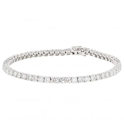 Brilliant Cut 4 Claw Diamond Line Bracelet 8.50ct