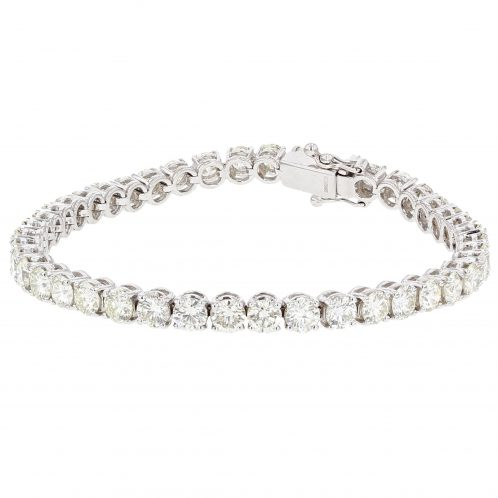 Brilliant Cut 4 Claw Diamond Line Bracelet 11.63ct