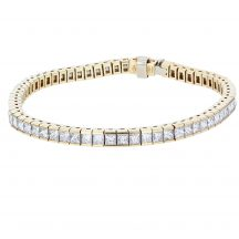 Princess Cut Diamond Channel Set Bracelet 10.56ct