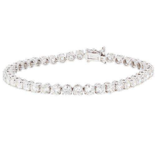 Brilliant Cut 4 Claw Diamond Line Bracelet 11.25ct