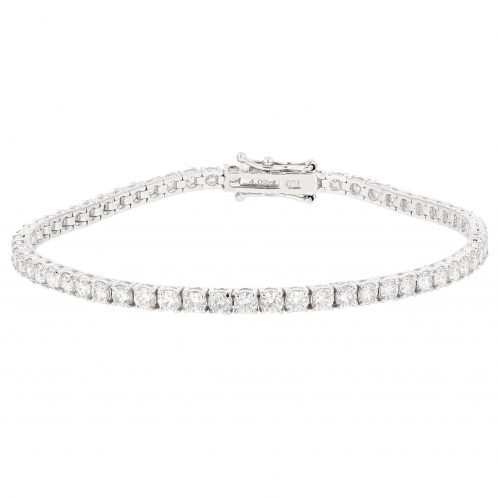 Brilliant Cut 4 Claw Diamond Line Bracelet 4.02ct