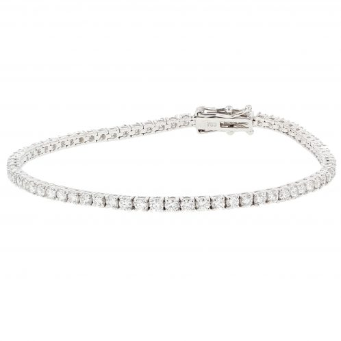 Brilliant Cut 4 Claw Diamond Line Bracelet 2.88ct