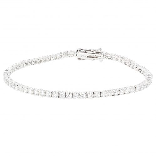 Brilliant Cut 4 Claw Diamond Line Bracelet 3.45ct