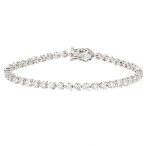 Brilliant Cut Diamond Line Bracelet 3.99ct