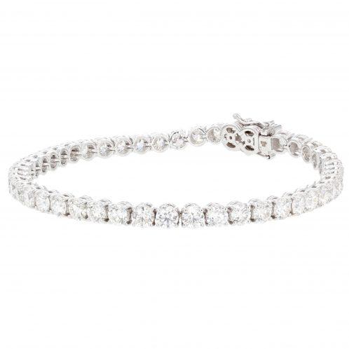 Brilliant Cut Diamond Line Bracelet