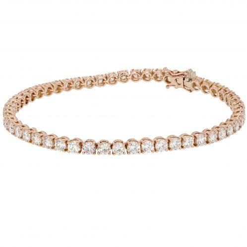 Diamond Tennis Bracelet Set in 18ct Rose Gold 6.25ct