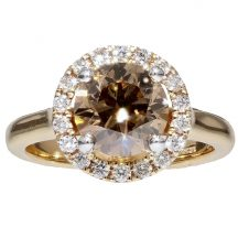 Brilliant Cut Cognac Diamond Ring 2.00ct