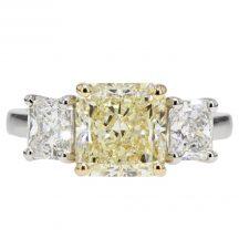 Diamond Three Stone Engagement Ring 2.56ct