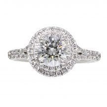 Brilliant Cut Diamond Double Halo Ring 1.00ct