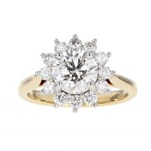 Brilliant Cut Diamond Cluster Ring 1.56ct