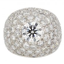 Brilliant Cut Bombe Ring 5.90ct