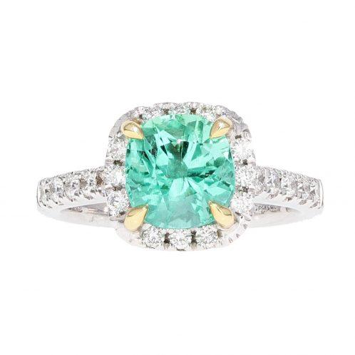 Emerald & Diamond Ring 1.73ct