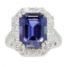 Tanzanite & Diamond Ring 6.72ct