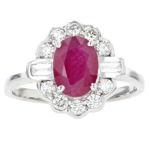 Ruby & Diamond Ring 1.52ct