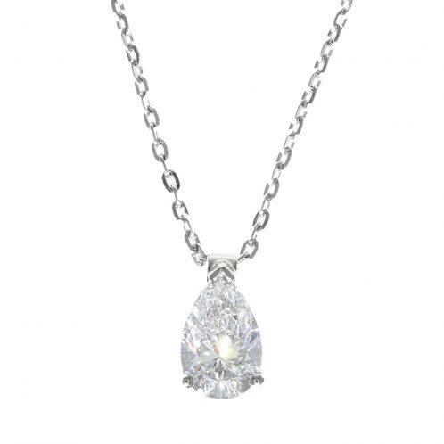 Pear Shape Diamond Pendant 1.01ct