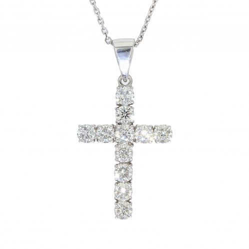 Brilliant Cut Diamond Cross 2.20ct