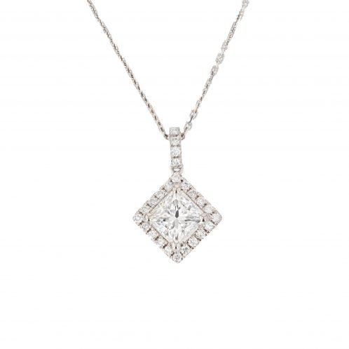 Princess Cut Diamond Pendant 1.01ct