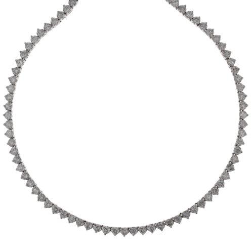Brilliant Cut Diamond Line Necklace