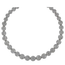 Brilliant Cut Diamond Cluster Necklace