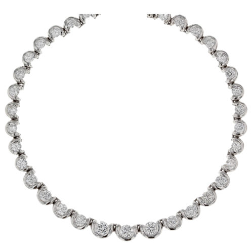 Brilliant Cut Diamond Line Necklace