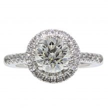 Brilliant Cut Diamond Double Halo Ring 1.16ct