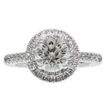 Brilliant Cut Diamond Double Halo Ring