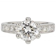 Brilliant Cut Diamond Engagement Ring 2.03ct