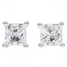 1.40ct Princess Cut Diamond Studs