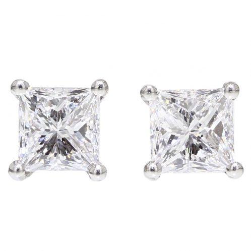1.40ct Princess Cut Diamond Studs