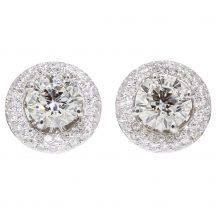 1.82ct Diamond Cluster Studs