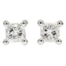 0.49ct Princess Cut Diamond Studs
