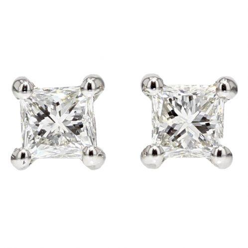 0.49ct Princess Cut Diamond Studs