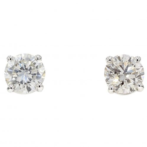 3.04ct Brilliant Cut Diamond Studs