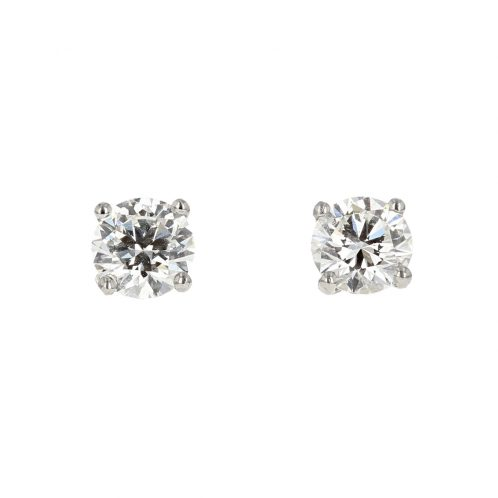 Brilliant Cut Diamond Studs 0.66ct