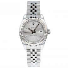 26mm Rolex Datejust With Silver Baton Dial