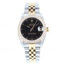 Rolex Datejust 31mm Steel & Gold Black Dial
