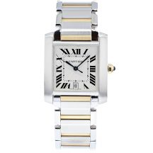 Cartier Tank Francaise Steel & Gold