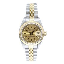 Rolex Datejust 26mm Steel & Gold Champagne Dial